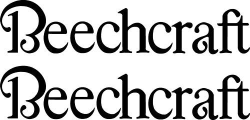 Beechcraft Logo Decal New Style PAIR (2)