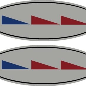 Cessna Logo Color Decal PAIR (2)