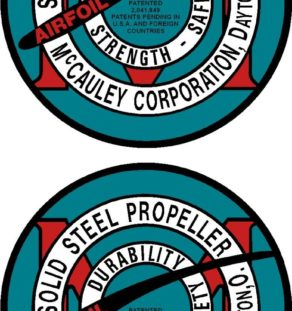 McCauley Old Style Prop Propeller Decal (PAIR)