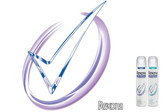 Gary Crossey - BRANDING: Logo Design for Rexona Crystal Logo