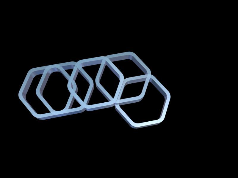 3D Hexagon Patter by Gary Crossey