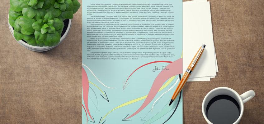 Letterhead design for small Asheville Business