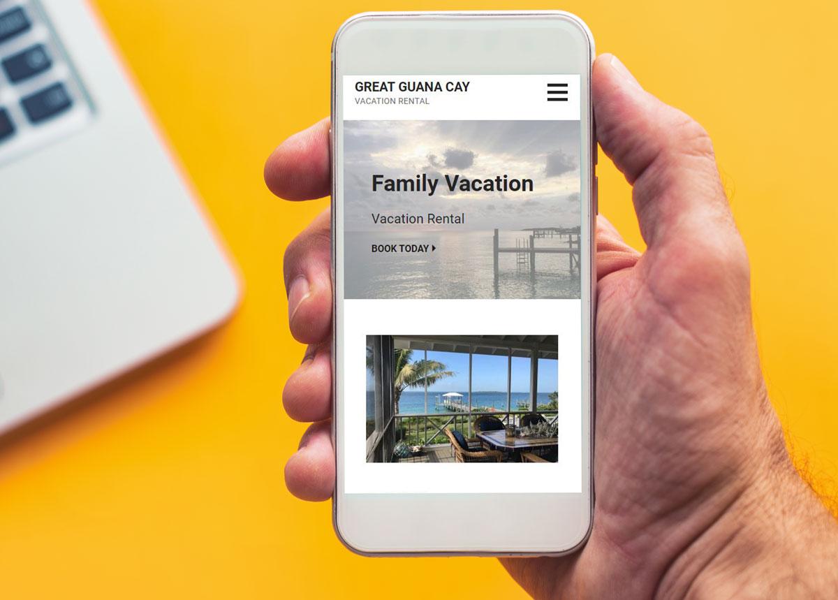 Website Design Vacation Rental