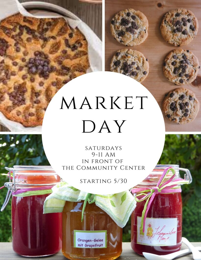 Market Day on Saturdays!