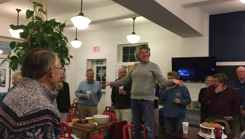 A Wonderful Newcomer's Party held at the Community Center!