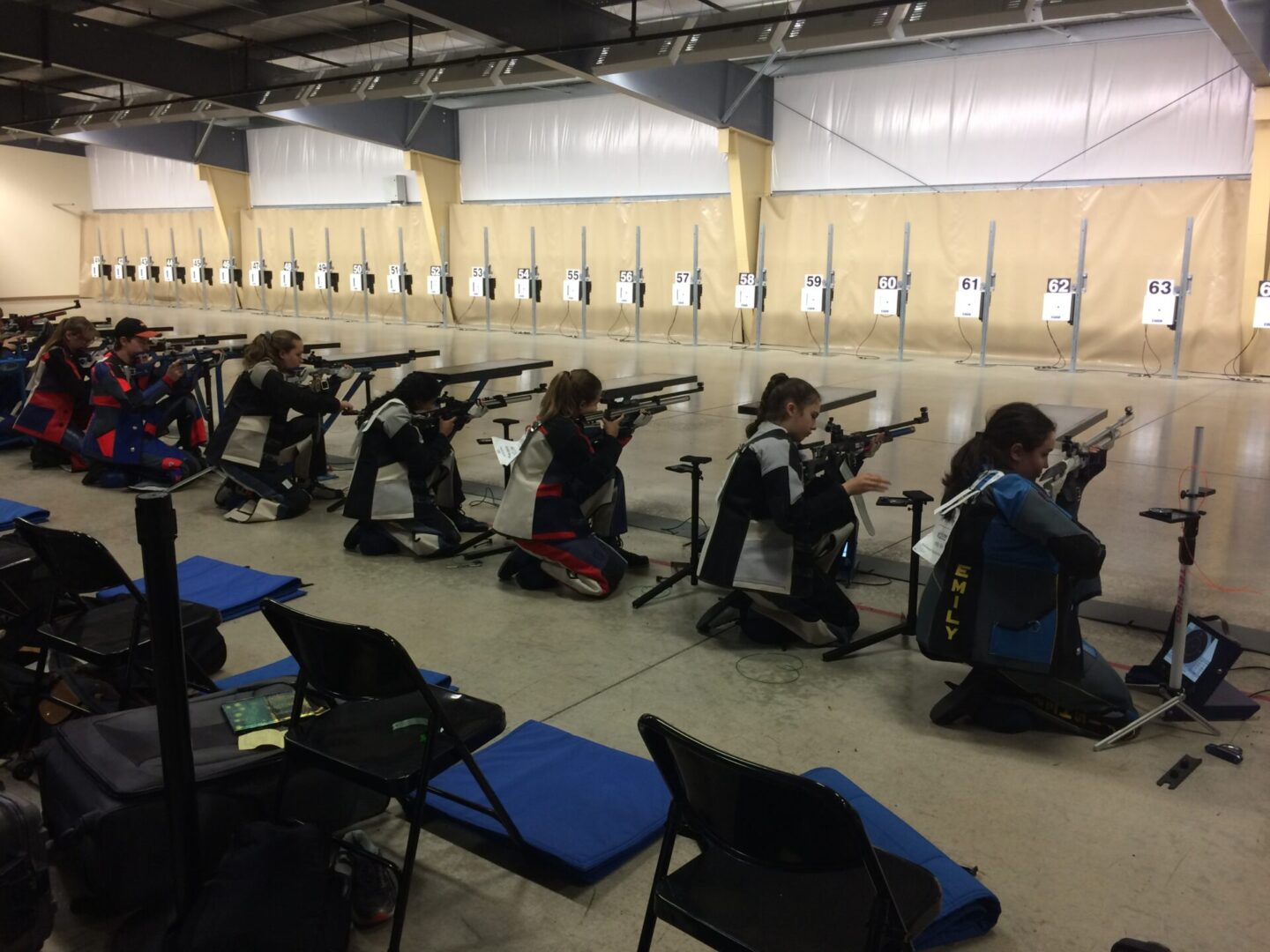 Harpeth Hall 3-P Air Rifle team competing at CMP Nationals 2018