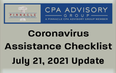 Pandemic Assistance Checklist by Dave Krebs, July 21, 2021 update