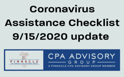 Pandemic Assistance Checklist by Dave Krebs, CPA (Sept. 15, 2021)