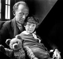 AA Milne and son