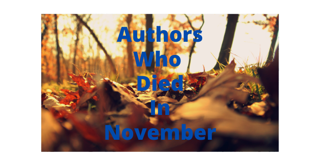 Feature Image - Authors who died in November