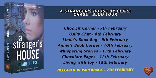 A Stranger's House by Clare Chase blog tour poster