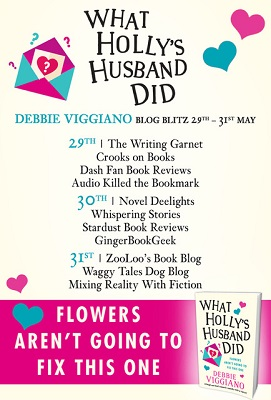 What Holly's Husband Did by Debbie Viggiano tour poster