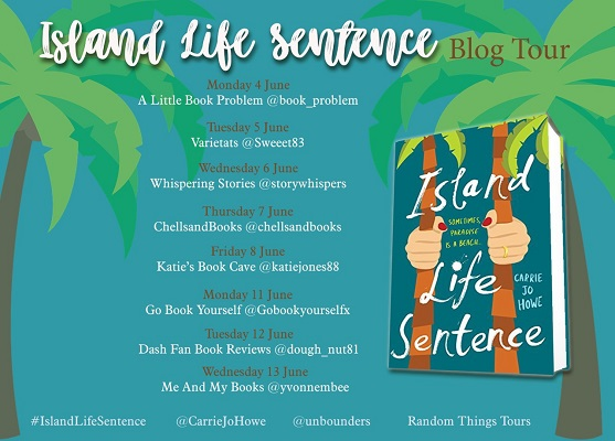 Island Life Sentence by Carrie Jo Howe tour poster