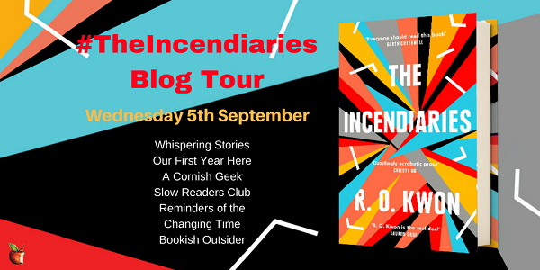 The Incendiaries blog tour poster