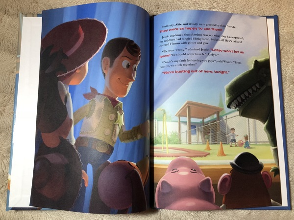 Inside toy story three book The Personalised Gift Shop