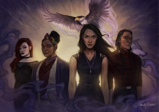 Character art by Gabriella Bujdoso. Trish, Gladus, Bianca, and Paytah