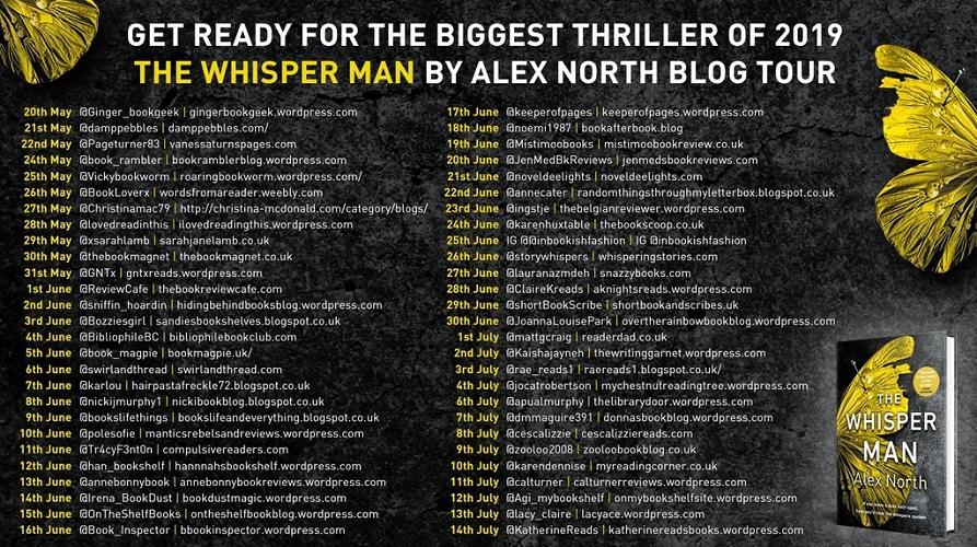 The Whisper Man blog tour poster