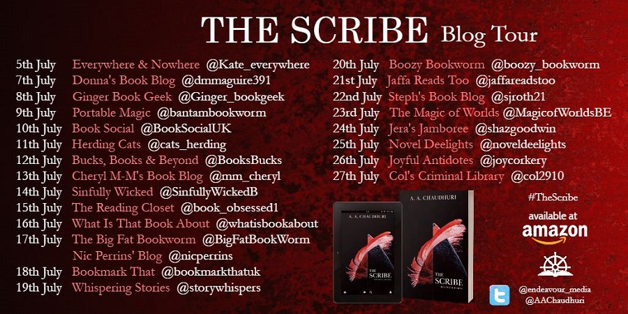 The Scribe Tour Schedule REVISED