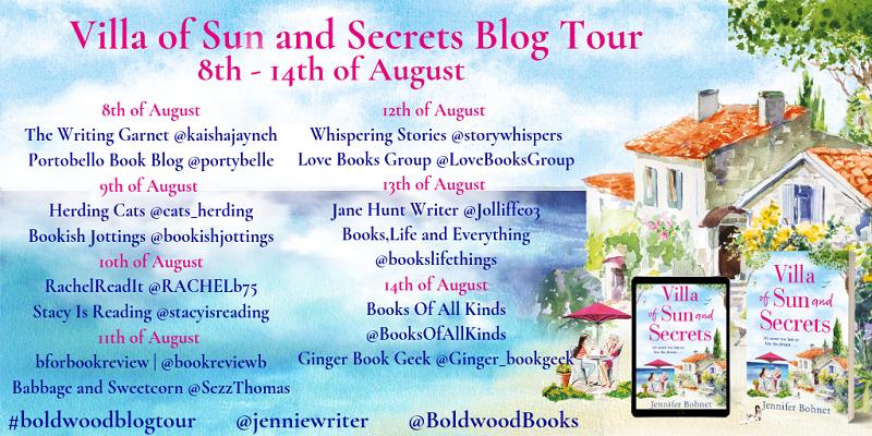 Jennifer Bohnet Blog Tour villa of sun and secrets