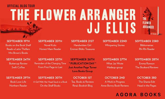 The Flower Arranger Blog Tour poster