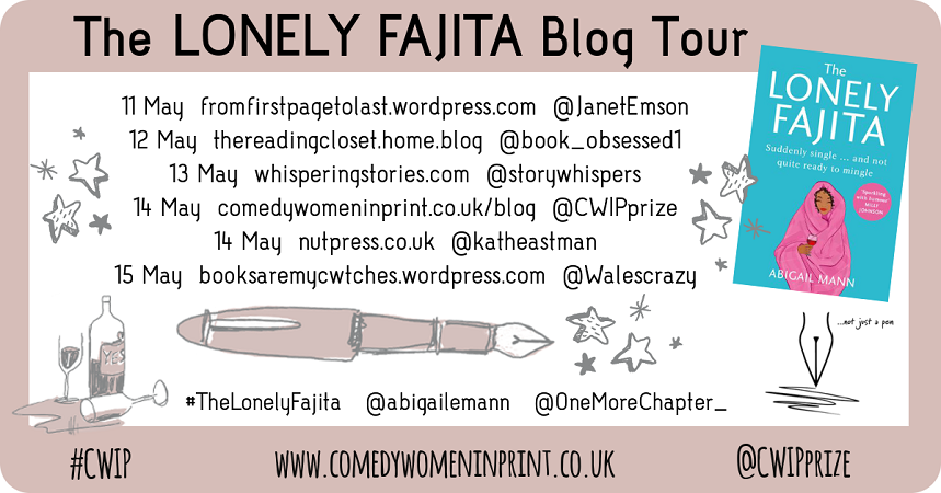 CWIP Blog Tour banner for The Lonely Fajita Twitter