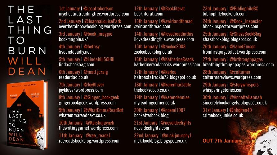 Will Dean Blog Tour Banner