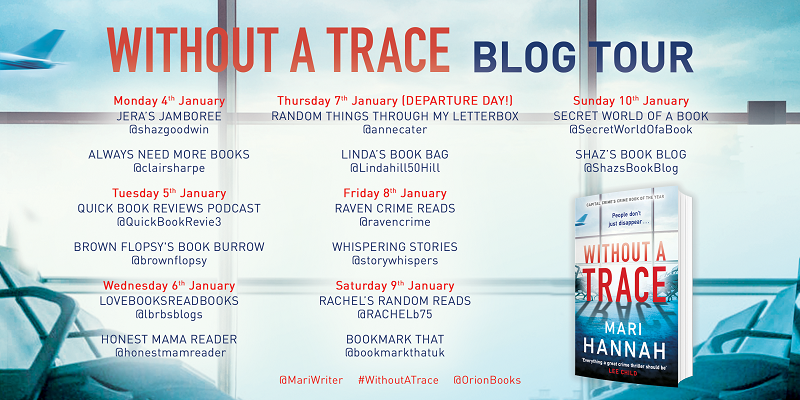 Without a Trace by Mari Hannah Blog Tour Poster