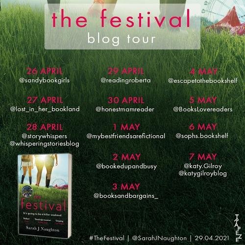 THE FESTIVAL blog tour graphic