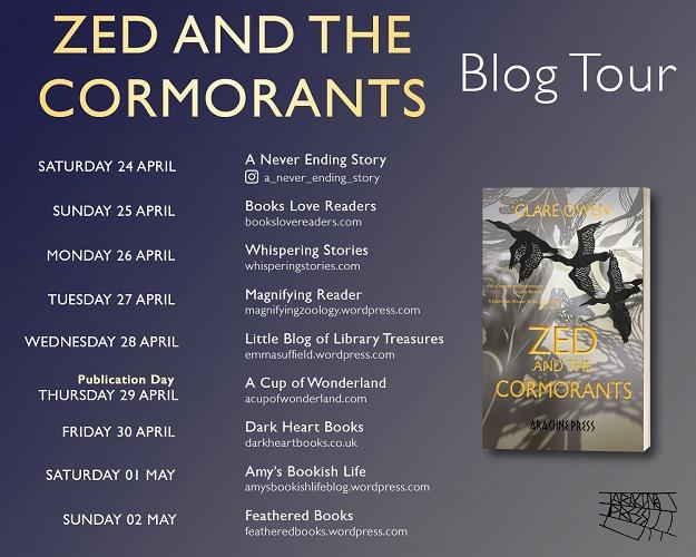 Zed and the Cormorants_Blog Tour Schedule