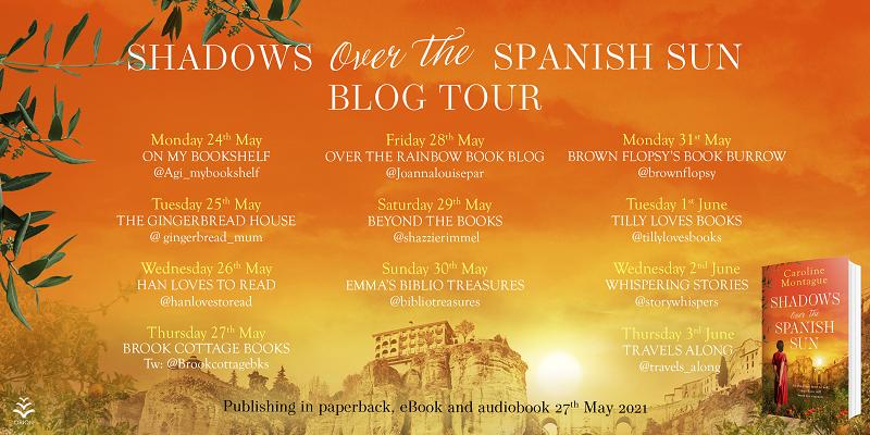 Shadows over the spanish sun Blog Tour Asset