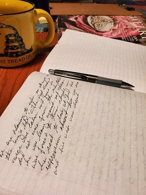 Trever Bierschbach writing