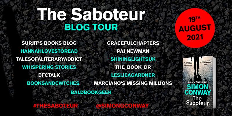 Blog Tour Poster for The Saboteur