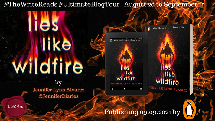 Lies like wildfire blog tour poster
