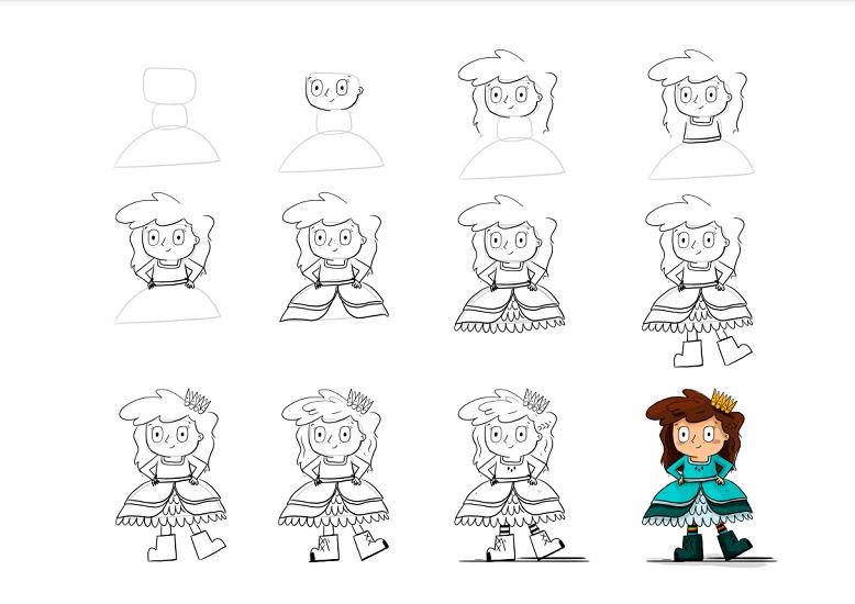 Pirate princess drawing