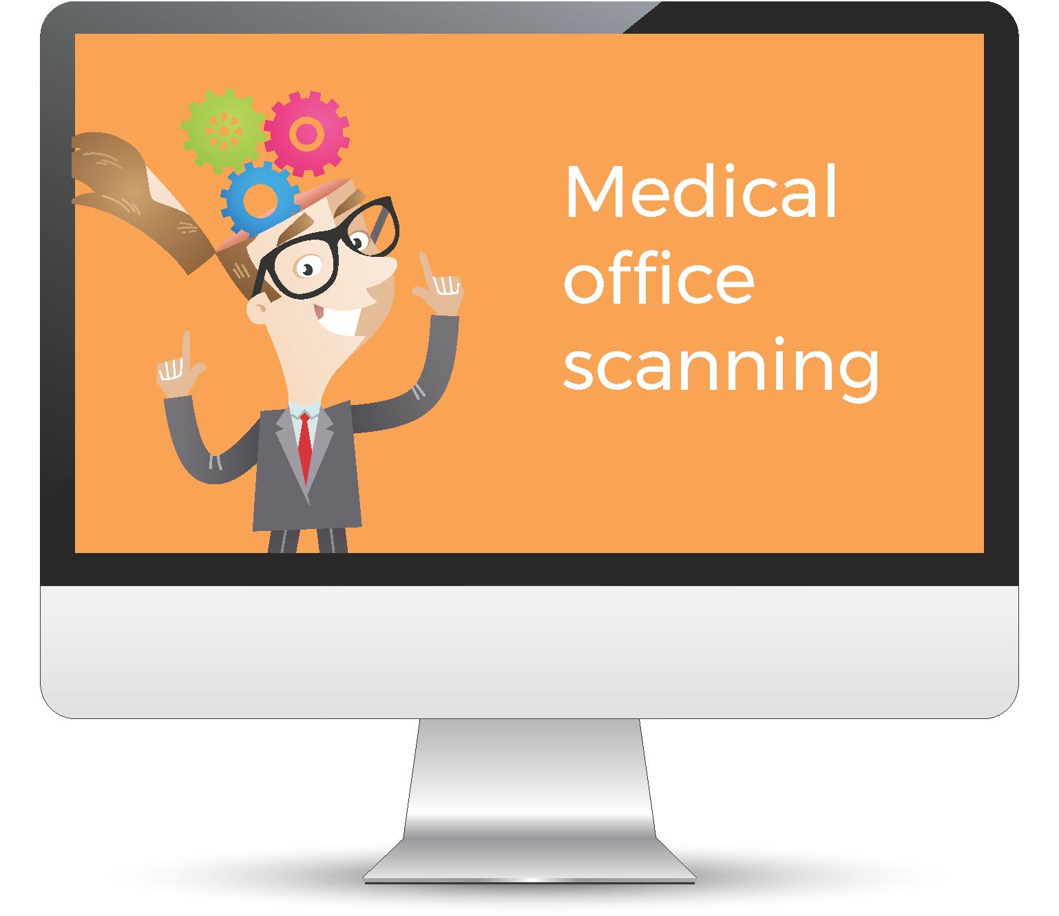 Scanning medical files