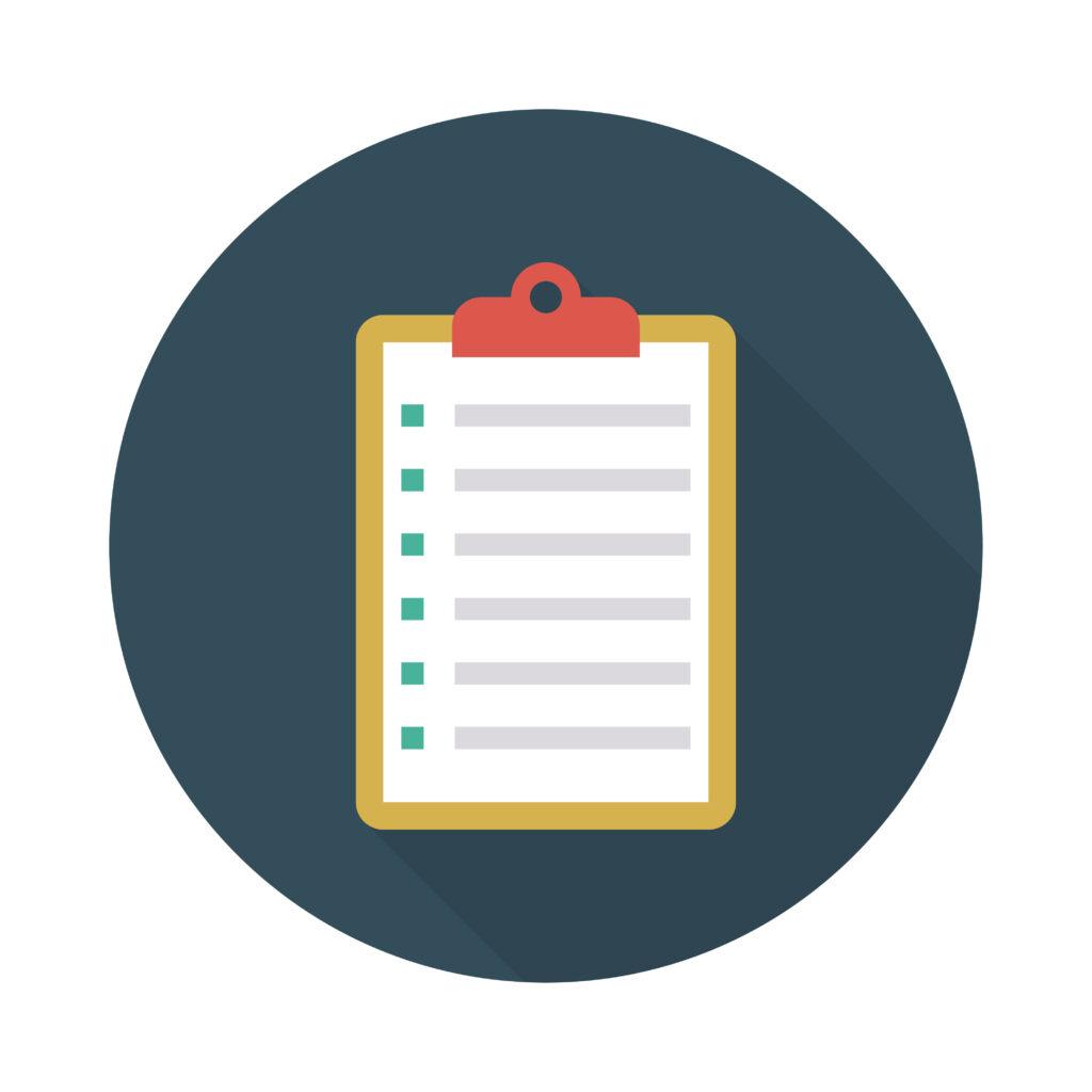 clipboard   list   document