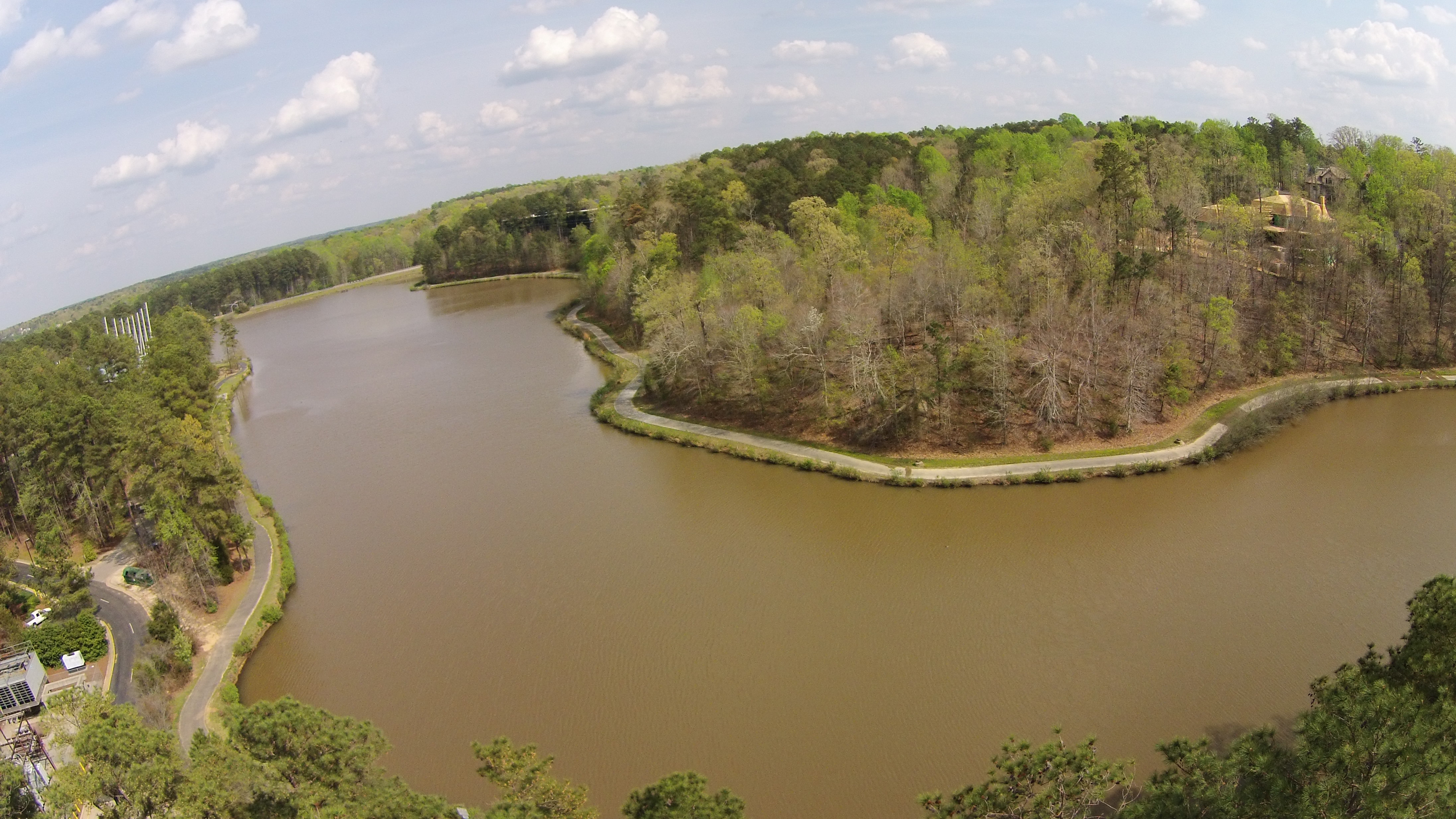 Aerial view of Regency Lakeview @ Cary's Koka-Booth