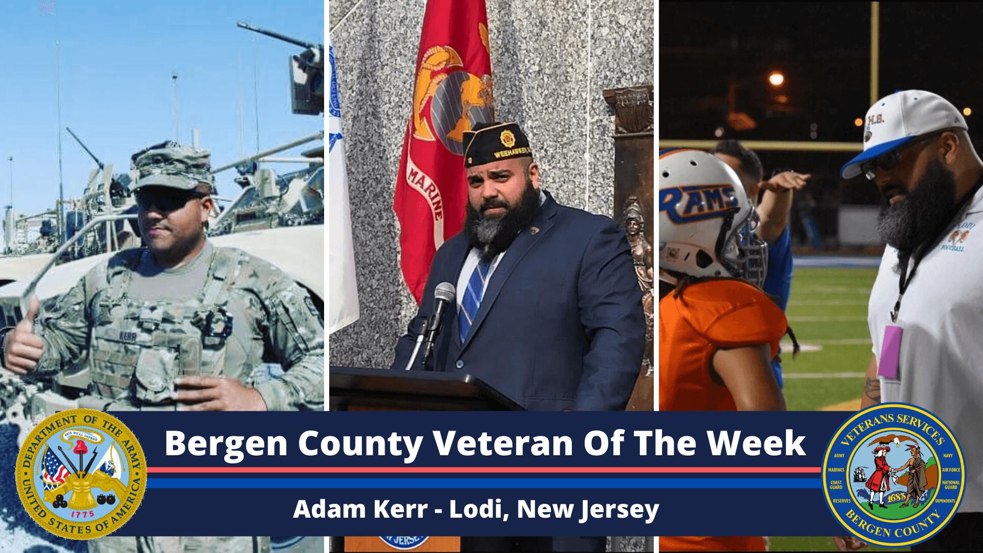 Bergen County Veteran of the Week: Adam Kerr