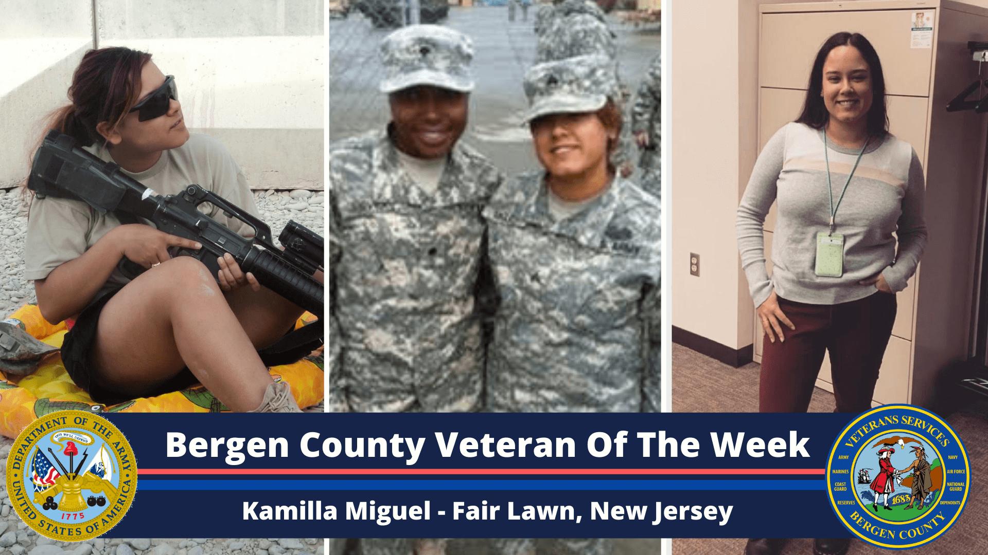 Bergen County Veteran of the Week: Kamilla Miguel