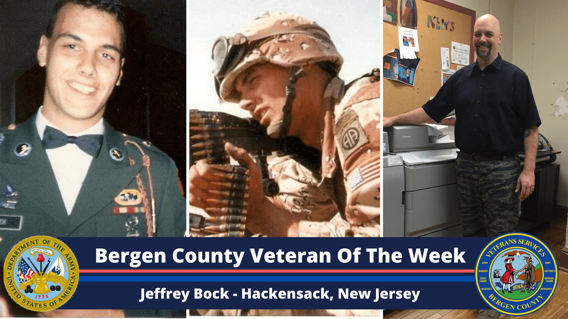 Bergen County Veteran of the Week: Jeffrey Bock