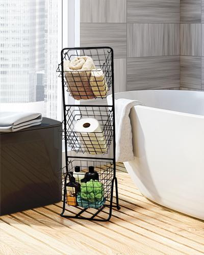 White wood bathroom corner, tub