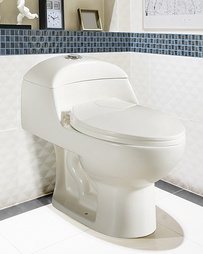 White urinal and washbasin and shower in granite bathroom, Moder