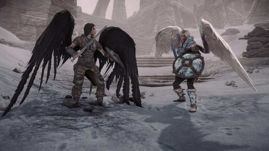 Animated Feathered Wings for Skyrim