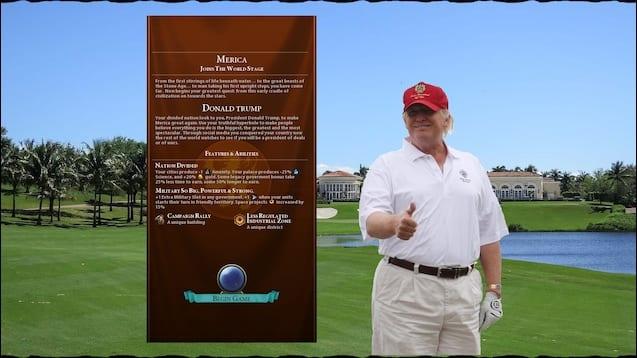 Civilization VI President Trump Mod