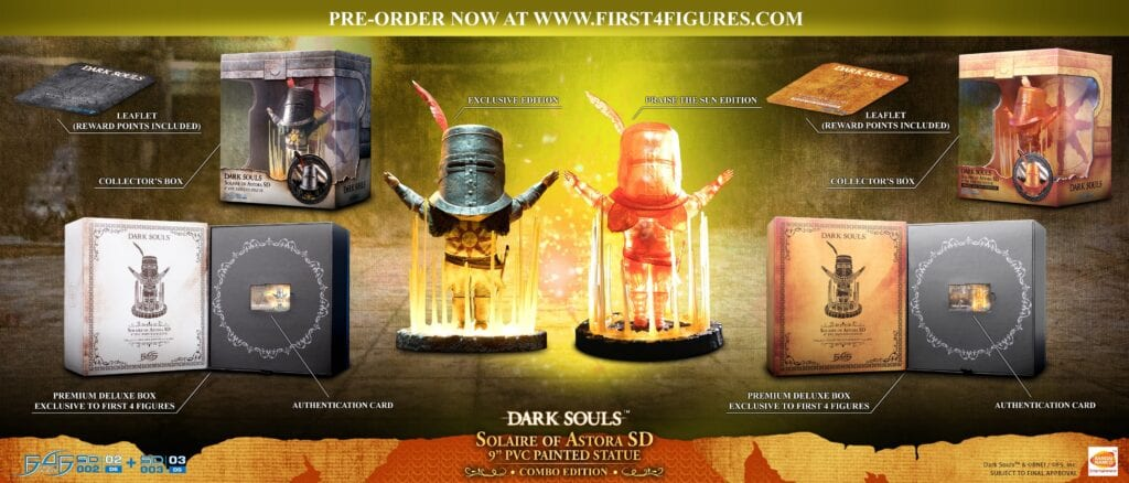 Dark Souls 'Praise The Sun' Chibi-Style Solaire Statues Now Available For Pre-Order