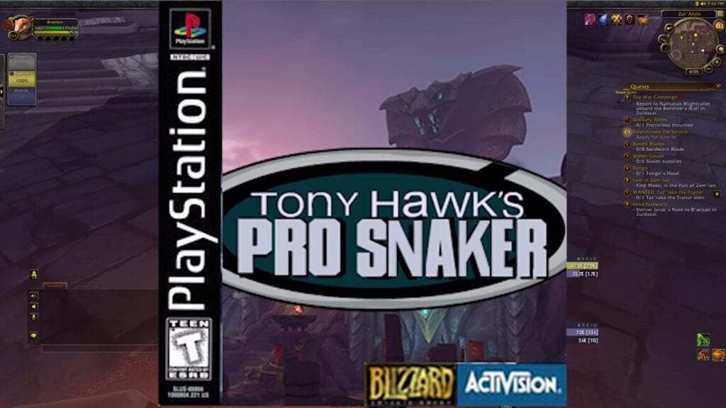 World Of Warcraft Spawns Hilarious 'Tony Hawk's Pro Snaker' Meme