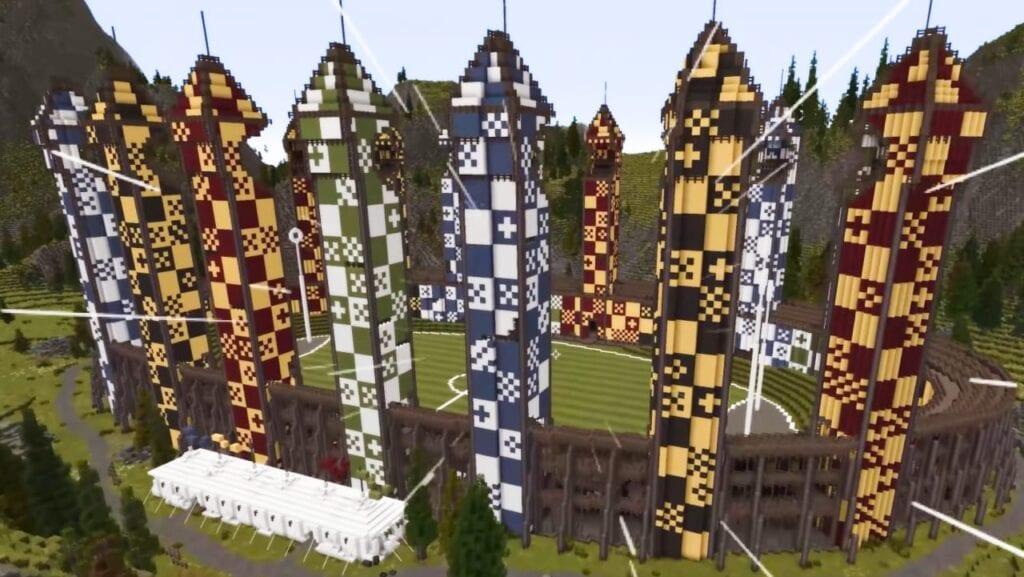 minecraft hogwarts harry potter feat