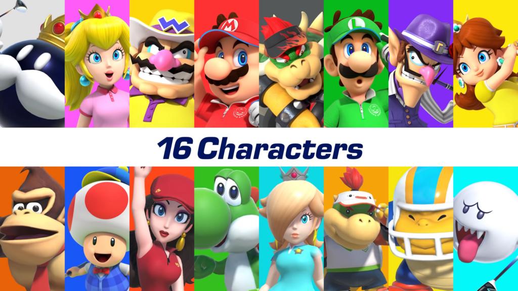 Mario Golf: Super Rush roster