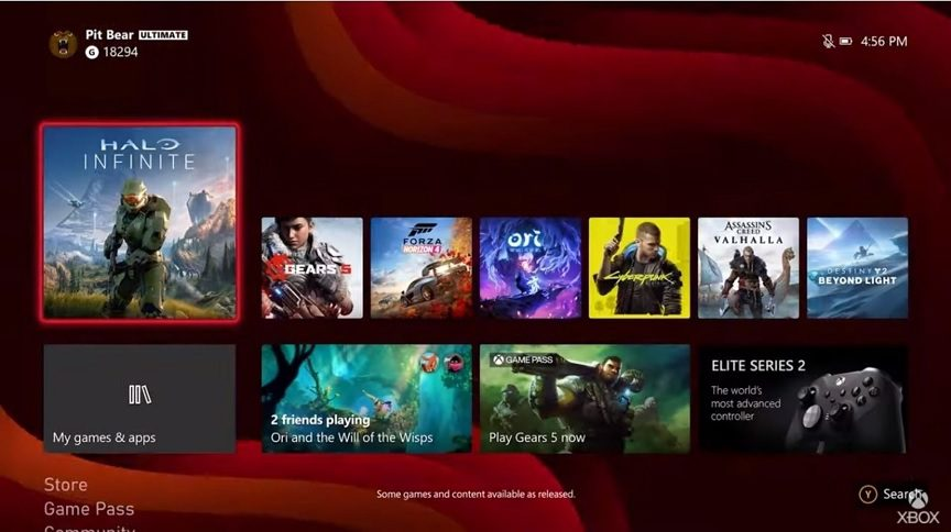 Xbox Series X Dashboard Is Getting A High Resolution Update