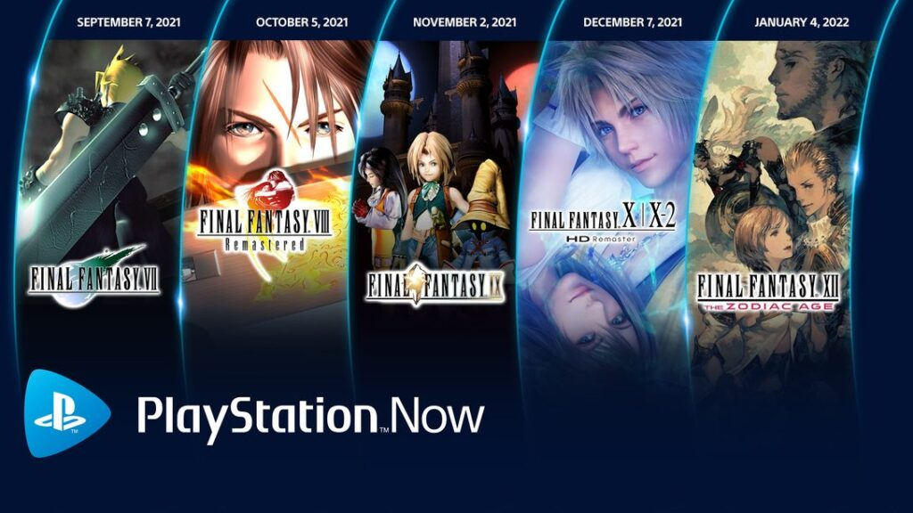 PlayStation Now Adding 5 Final Fantasy Games Through January 2022